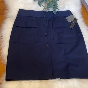 Theory button-front skirt Size 8 NEW